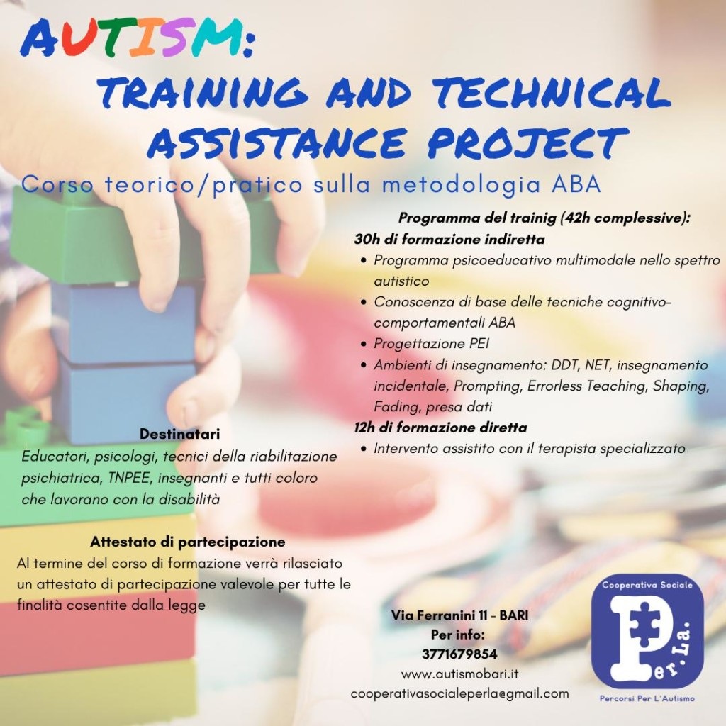 Training and technical assistance project